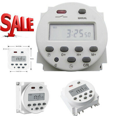 LCD Digital Control Power Programmable Timer DC 12V 16A Time Relay Switch O3E7
