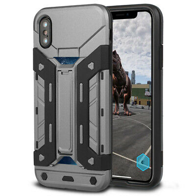 Shockproof Hybrid Armor Card Slot Slide Wallet Case For Samsung GALAXY Note 8 S8