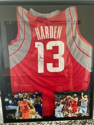 8598c3dfab7 James Harden Autographed/Framed Houston Rockets Jersey (Beckett COA  Included)