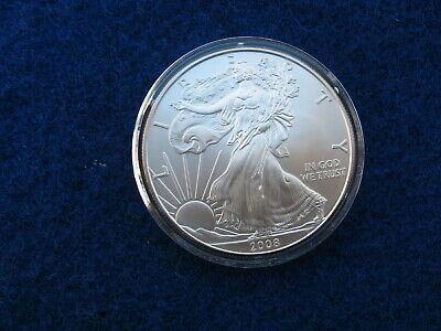 2008 Silver American Eagle BU 1 oz US $1 Dollar U.S. Mint Brilliant Uncirculated