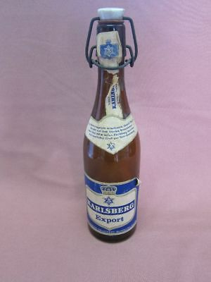 Alte Karlsberg Export Bierflasche LEER Flasche Homburg Saar beer bottle 14359