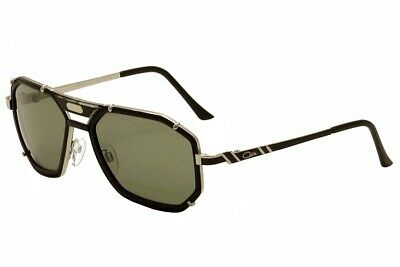 191b70a08057 Cazal Men s Legends 659 3 011 SG Matte Black Silver Retro Pilot Sunglasses