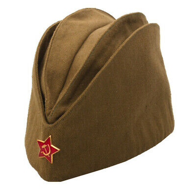 a46c9d18387 Pilotka Soviet Army Garrison Cap With A Red Asterisk Soviet Soldier Russian  Ussr