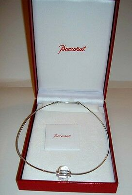 BACCARAT JEWELRY SHERAZADE KEY RING CHAIN CHARM CLEAR CRYSTAL FRANCE NEW NO BOX