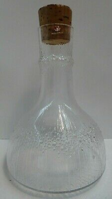 Vintage Tapio Wirkkala Iittala Art Glass Ice / Bark Textured Carafe Decanter