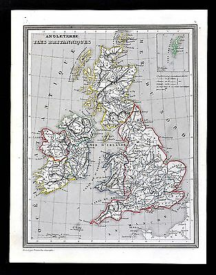 1835 Monin Fremin Map - Great Britain & Ireland - England Scotland Wales London