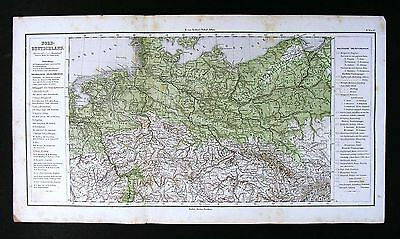 1865 Sydow Map - Physical Germany Prussia Poland Bohemia Czech Holland - Europe