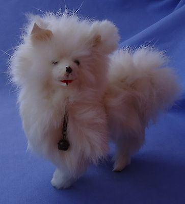 Antique Samoyed Spitz Mechanical Salon Dog French Fashion Doll 6""
