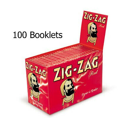 ZIG ZAG Red Skins Regular Rolling Cigarette Paper x 100 booklets FULL BOX