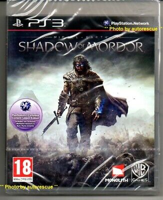 MIDDLE EARTH SHADOW OF MORDOR  'New & Sealed'   *PS3*