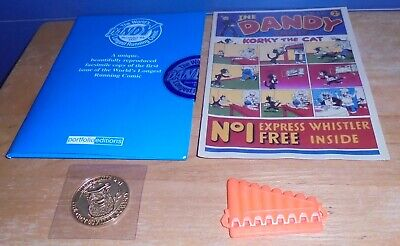 Portfolio Editions Reproduction of 1st Issue of Dandy Comic with Medal and Toy