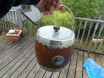 Circa 1890 Ice Bucket / Biscuit Barrel Huckin & Heath  - 3438 Rd No 17037