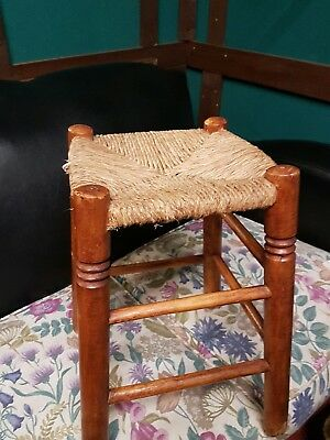 vintage wicker stool