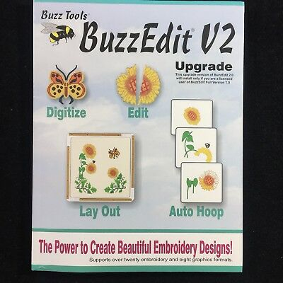 Buzz Tools Buzzedit  V2 Upgrade Embroidery Design Management System Software