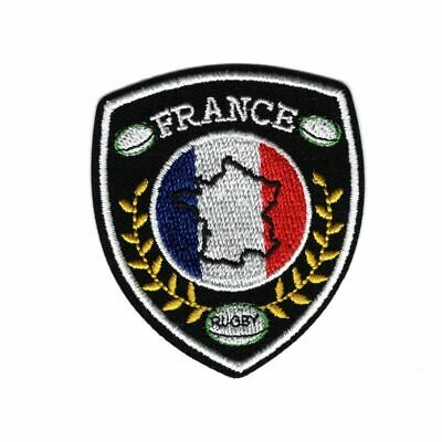 Patch Ecusson Thermocollant Blason Sport Rugby France 5 x 5,50 cm REF 4136