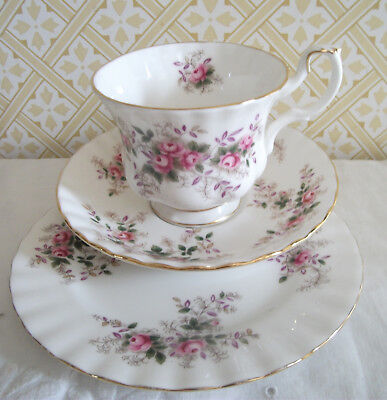 Royal Albert Lavender Rose Tea Trio : Cup, Saucer & Tea Plate