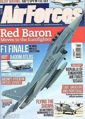 Air Forces Monthly Magazine 2013 August Singapore,Sentinel,A400M Atlas,P-8A,C-23