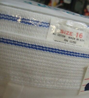 NOS Vtg 1978 White Cotton Briefs Fruit Loom Double Blue Line 16 Sealed US Made