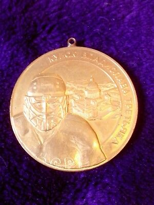 Ice hockey, award medal Vladislav Tretyak Cup, brass