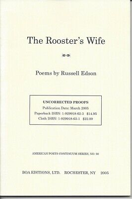 Russell Edson / THE ROOSTER'S WIFE Uncorrected Proof 1st 2005