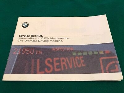 BMW SERVICE BOOK USED 2000 Onwards No Owner or Vehicle Details