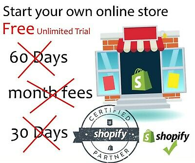 Shopify Store For Sale 9500+ Products With Unlimited Trial No Credit Card Needed