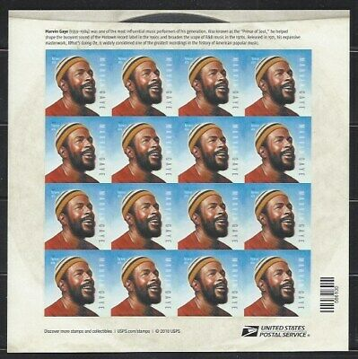 2019 Marvin Gaye Forever Sheet - 16 stamps, free shipping within the USA