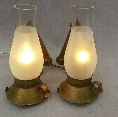Antique-Vintage 1920s-1930s Moe-Bridges Wall Sconces, Arts & Crafts, Rewired
