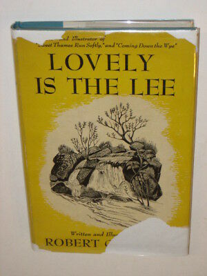 Gibbings LOVELY IS THE LEE Dutton 1945 Illustrated HCDJ