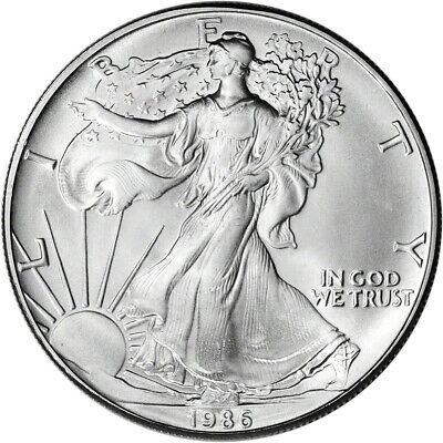 1986 American Silver Eagle - Brilliant Uncirculated