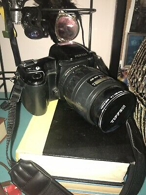 Pentax PZ10 35mm SLR Film Camera Body And Tiffen 58mm Sky 1-A Lens