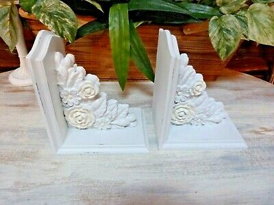 SALVAGE Pair ARCHITECTURAL Carved ROSES Bracket CORBELS