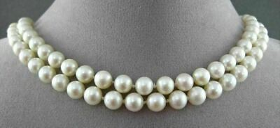 Estate 14Kt Yellow Gold South Sea Pearl Single Or Double Strand Necklace #21674