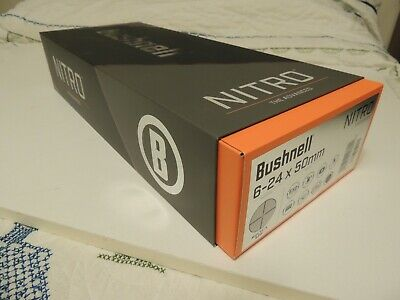 Bushnell NITRO Rifle Scope 6-24 X 50 mm Multi-X Long Range RN6245BS3 NEW!!