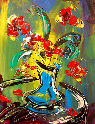 Mark Kazav COFFEE TIME  Large Abstract Modern Original Oil Painting  0EE45Y