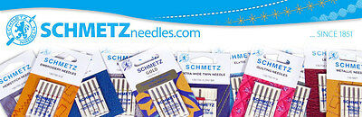 Schmetz Sewing Machine Needles - Leather, Metallic, Gold Embroidery, Quilting