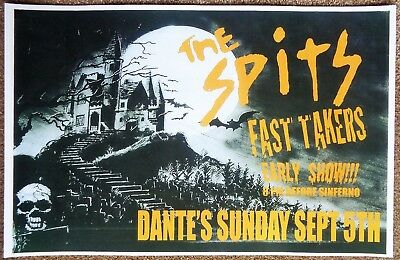 THE SPITS 2010 Gig POSTER Portland Oregon Concert