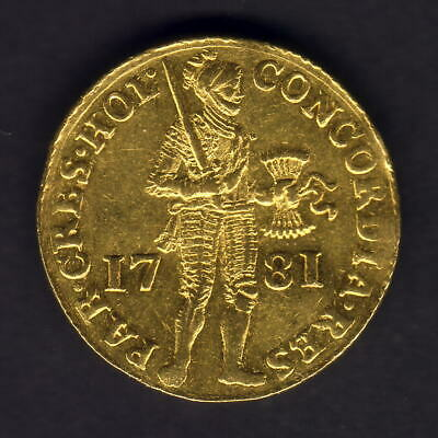 Netherlands - Holland. 1781 Gold Ducat..  EF - Part Lustre