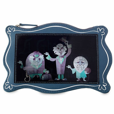 Disney Haunted Mansion Hitchhiking Ghosts Lenticular Zipper Pouch, NEW