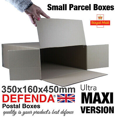 Royal Mail ULTRA MAXI SMALL PARCEL BOXES PiP Postal Mailing 350mm 160mm 450mm