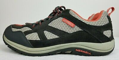 97f00e15183 Merrell Zeolite Women Granite/Coral Leather Low Top Hiking Shoe Size 9