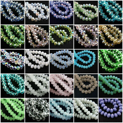 New Gemstone Round Rondelle Spacer Loose Bead 3mm 4mm 6mm 8mm Assorted Stone