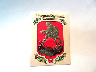 Vintage Mcdonalds Coke LImited Edition Metal Norman Rockwell Ornament MIP 1983