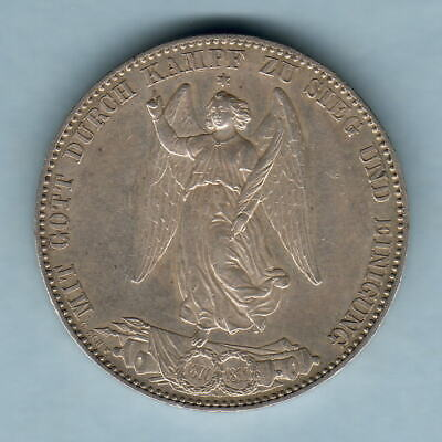 Germany - Wurttemberg. 1871 Thaler.. Conclusion of War.. gEF - Much Lustre