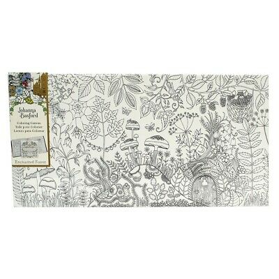 Johanna Basford Colouring Canvas Enchanted Forest 12 x 24 inch Forest