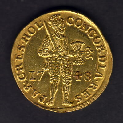 Netherlands - Holland. 1748 Gold Ducat..  gEF