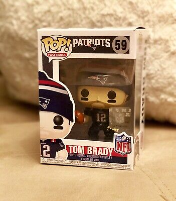 Funko POP! Football: NFL New England Patriots QB #12 Tom Brady #59 (Color Rush)