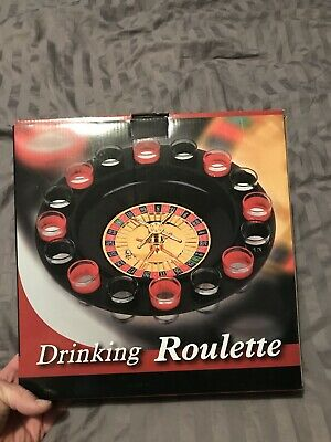 Evelots Casino Shot Glass Roulette Drinking Game Set With 16 Shot Glasses New!