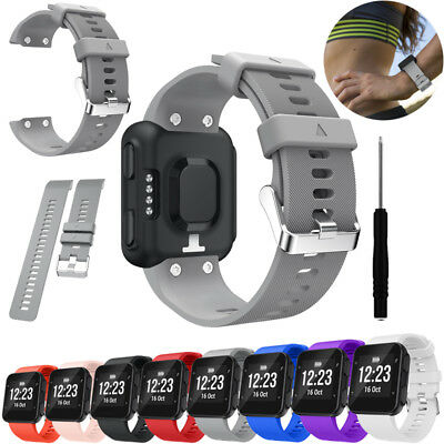 Silicone Wristwatch Bands for Garmin Forerunner 35 Colors Strap Tool Durable