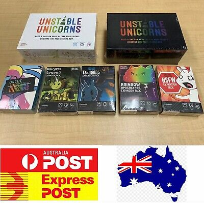 Unstable Unicorns Main base game, Premium Edition or Expansions, Melbourne Stock
